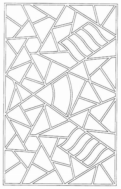 Mosaic Coloring Pages Simple Printable Pattern Getcolorings
