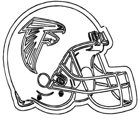 printable football helmet nfl coloring pages