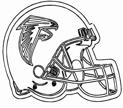 Coloring Nfl Helmet Football Pages Printable Helmets