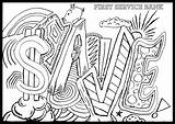 3d Coloring Pages Designs Printable Zigzag Drawing Getcolorings Getdrawings sketch template