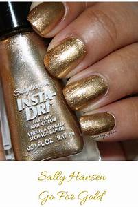 Gold To Go : notd sally hansen go for gold insta dri nail polish stacie raye ~ Orissabook.com Haus und Dekorationen
