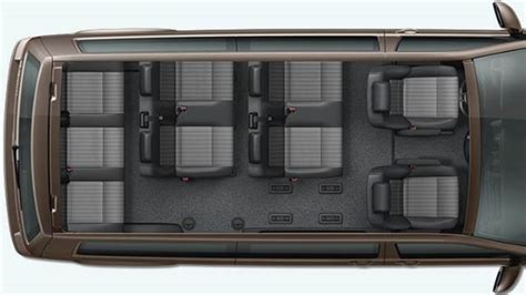 volkswagen  caravelle lg  dimensions boot space