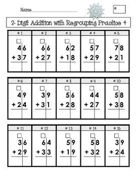 double digit addition  subtraction  regrouping
