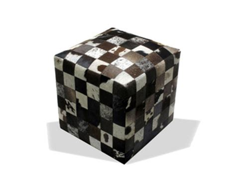 Cowhide Cube Ottoman - cowhide cube ottoman ds 164 buy pavilion chair by mies