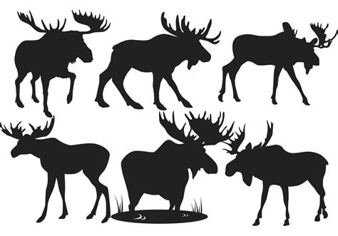 Moose Silhouette Vectors Download Free Vector Art Stock
