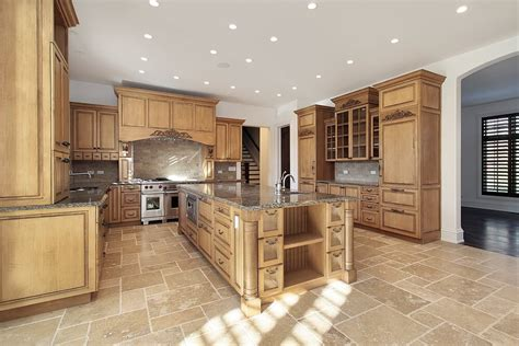 kitchen floor lighting 43 quot new and spacious quot light wood custom kitchen designs 1645