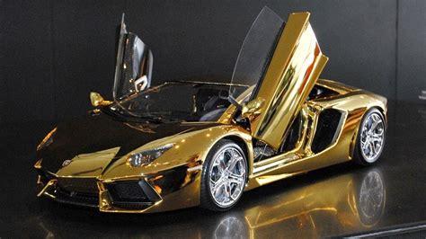 world s most expensive model car golden lamborghini