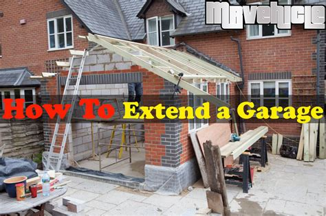 extending house into garage how to extend a garage with the construction company in france mr vehicle