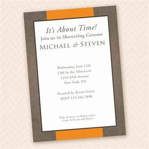 Two grooms gay wedding shower invitation 2240699 weddbook for Gay wedding shower invitations