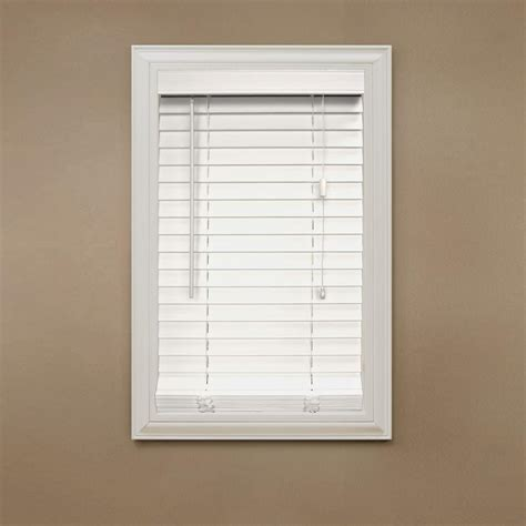 home decorators collection white   faux wood blind