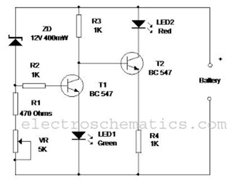 Battery Level Monitor Circuit