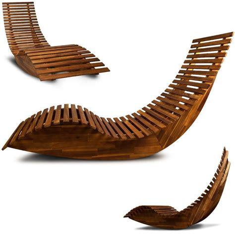 chaise transat transat ergonomique chaise longue en bois relax de plage