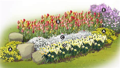 Spring Color Garden Plan