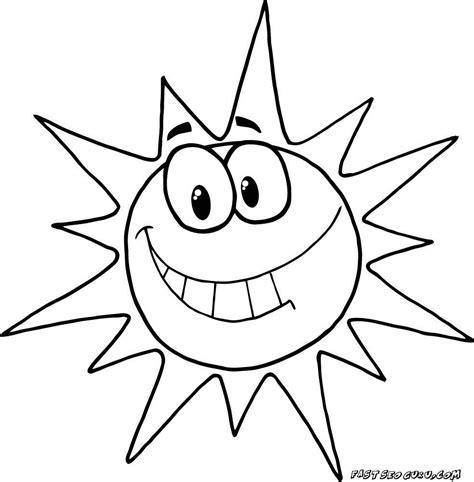 printable cartoon character smiling sun coloring pages printable coloring pages  kids