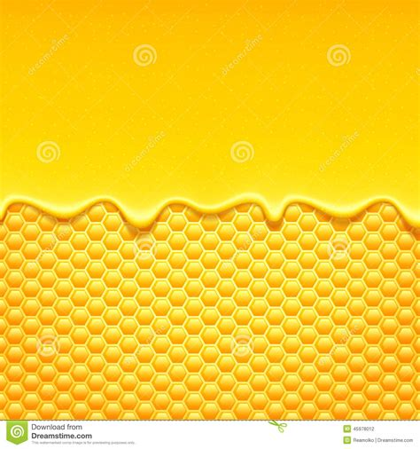Orange Yellow 3d Honeycomb Background Stock Vector Yellow Pattern With Honeycomb And Honey Drips Stock