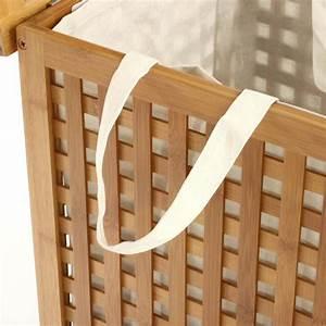 Panier à Linge Bambou : panier linge bambou beige ~ Dailycaller-alerts.com Idées de Décoration