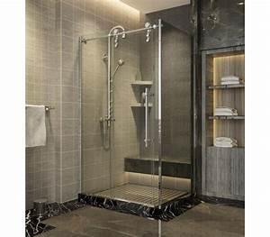 paroi vitre douche italienne porte en verre douche With porte de douche coulissante avec carrelage salle de bain blanc