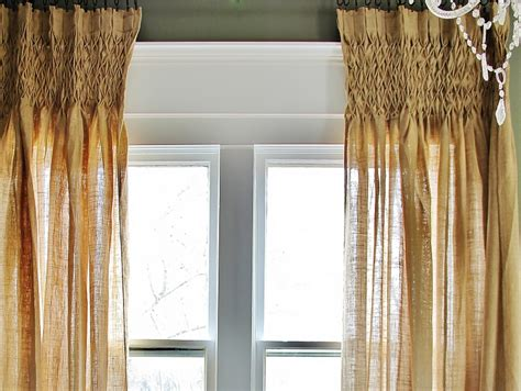 Smocked Burlap Curtains By Jum Jum by What About That Space The Window Thistlewood Farm