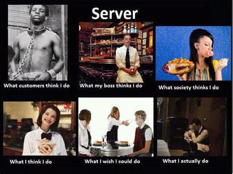 Funny Restaurant Memes - server life i will quietly cry in the corner while management and customers yell at me and