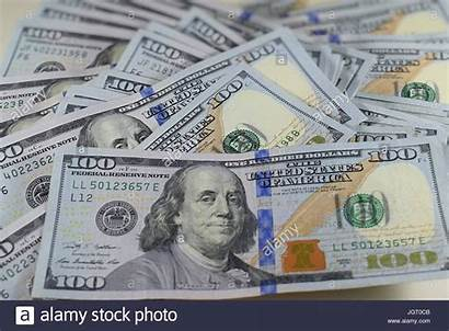 Usd Dollar Money Bills American Hundred Pile