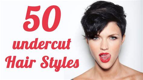 undercut female hairstyles youtube