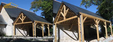 bureau d etude charpente bois extension de maison en ossature bois sarl merlot