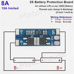 2s 8a 7 4v 8 4v Bms Protection Pcb Board For 18650 Lithium