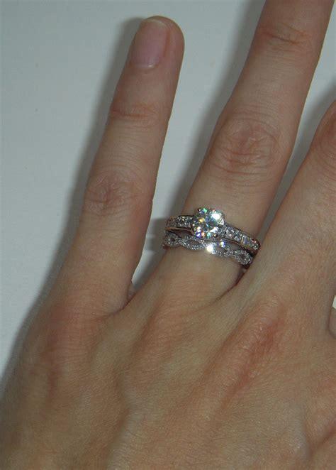 new which way round wedding and engagement ring matvuk com