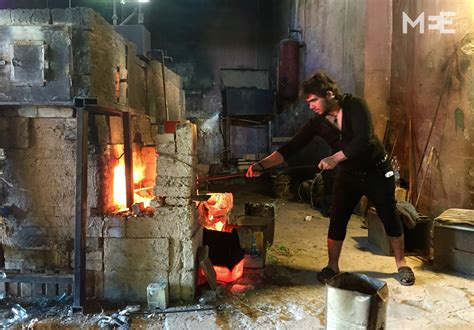 lebanons ancient art  glass blowing  risk