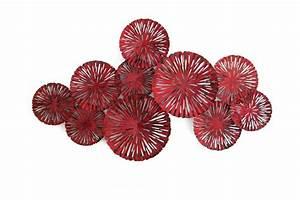 Sculpture Metal Murale : decoration murale rouge ~ Teatrodelosmanantiales.com Idées de Décoration