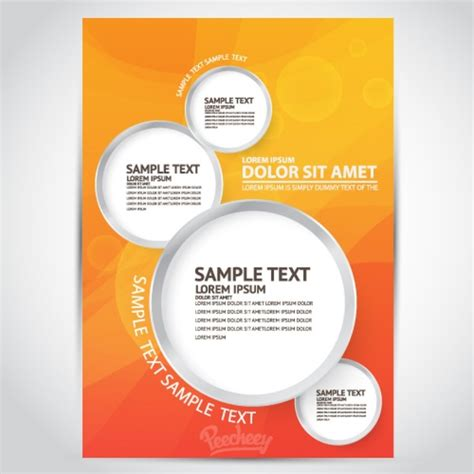 Free Flier Templates by Flyer Template Free Vector In Adobe Illustrator Ai Ai
