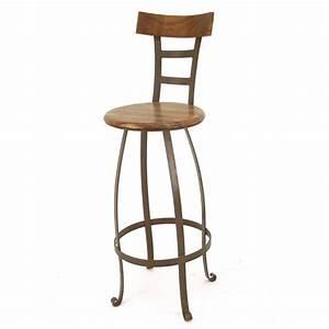 Tabouret De Bar Pivotant : tabouret de bar pivotant meuble en fer forg et palissandre ~ Dailycaller-alerts.com Idées de Décoration