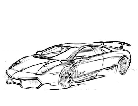 Coloring Lamborghini by Free Printable Lamborghini Coloring Pages For