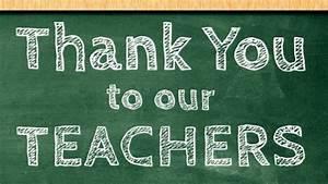 Thank You Teachers! – Backpack Beginnings