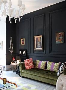 28 Ideas for Black Wall Interior Styling