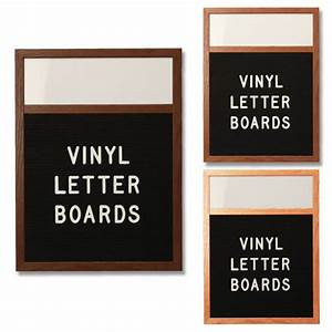 open face vinyl letter board 24x72 with header wood framed With vinyl letter board