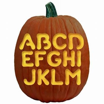 Pumpkin Carving Stencils Halloween Templates Letters Bubble