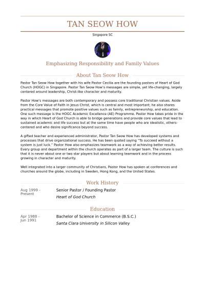 senior pastor resume sles visualcv resume sles