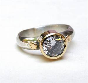 handmade engagement ring fine 14k gold ring silver ring With handmade wedding rings