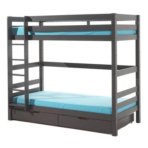 lit superpose lit tiroir lit superpos 233 haut 2 tiroirs enfant quot pino quot gris