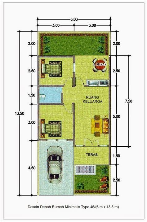 denah rumah minimalis type   lantai terbaru