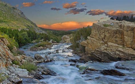 วอลเปเปอร์ : แนวนอน, พระอาทิตย์ตก, ทะเลสาบ, หิน, ธรรมชาติ ...