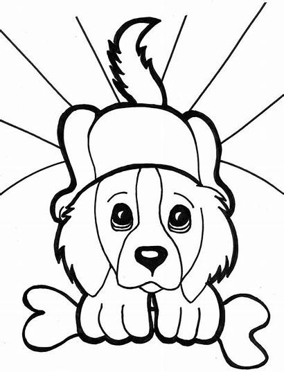 Coloring Dog Face Puppy Pages Printable Fat