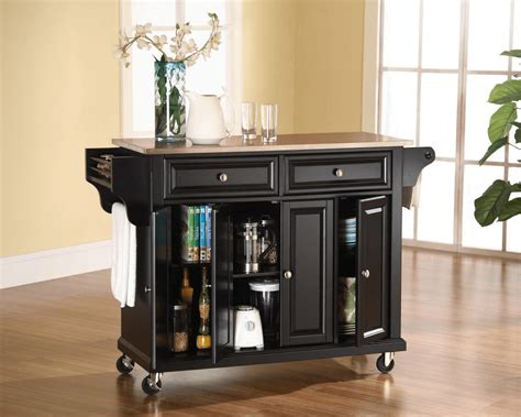 kitchen island cart with stainless steel top kitchen island cart stainless steel top