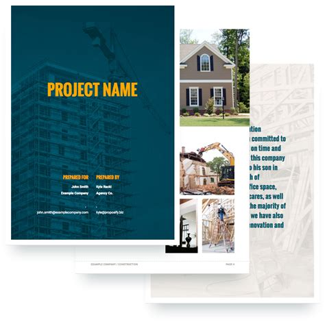 construction proposal template  sample proposify