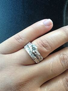 should i upgrade my center stone or buy an eternity band With wedding band instead of engagement ring