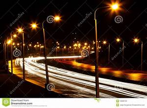Road Night City Stock Photos - Image: 16828733