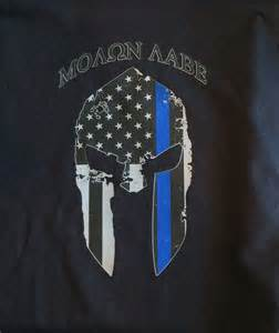 Thin Blue Line Spartan Helmet