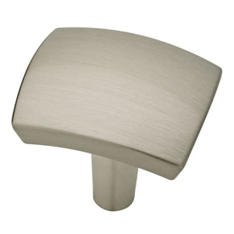 Square Nickel Cabinet Knobs by Shop Brainerd Satin Nickel Square Cabinet Knob At Lowes