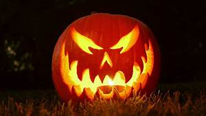 Halloween, Evil, Pumpkins, Falling, Jumping, And, Smiling, In, The, Night, Stock, Footage, Video, 1433902